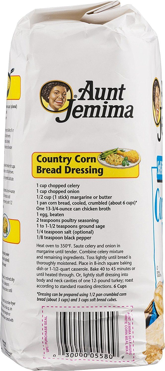 Image result for aunt jemima cornbread dressing recipe on bag