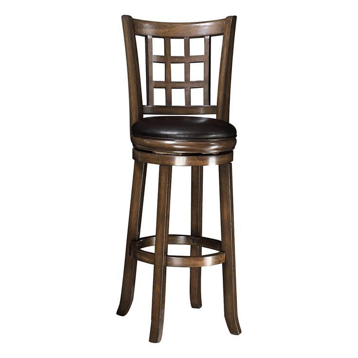 Coaster Furniture Lattice Back 29 in. Swivel Bar Stool - 102640
