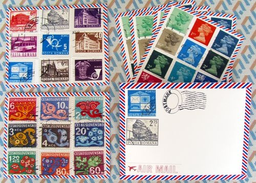 Air Mail Vintage Postage Printable The Set Includes 4 Different