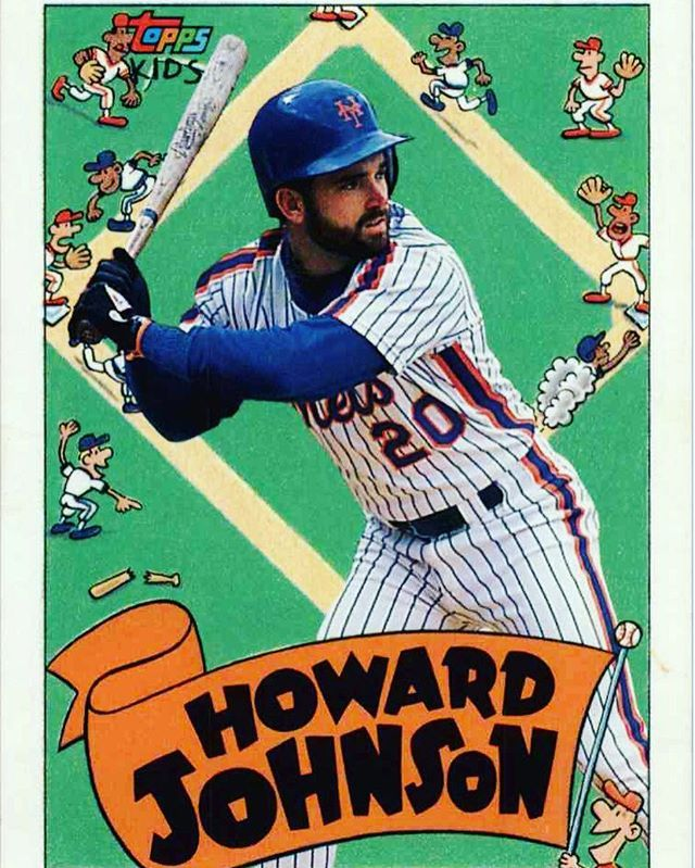 1992 Topps Kids Howard Johnson Ny Mets Hojo Angryunicorn