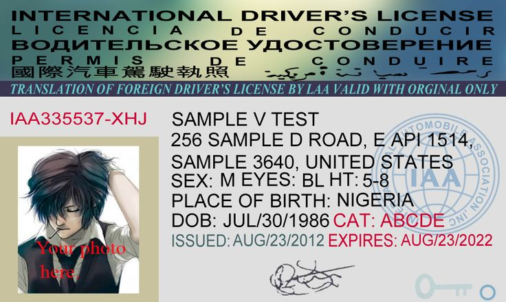 This is International Drivers License PSD