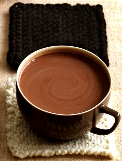 THM HOT CHOCOLATE !! Yum - I heated almond milk, added some coconut oil, whey powder, vanilla, cocoa and sweetener - blended it until frothy in the blender:)