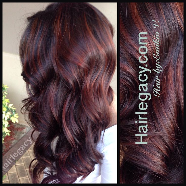 Best 25 red balayage highlights ideas on pinterest dying hair red balayage hair highlights picture description pretty dark brown and red pmusecretfo Image collections