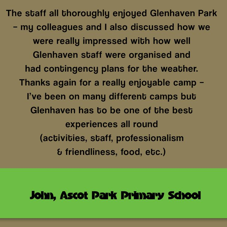 Camp Testimonials - Glenhaven Park