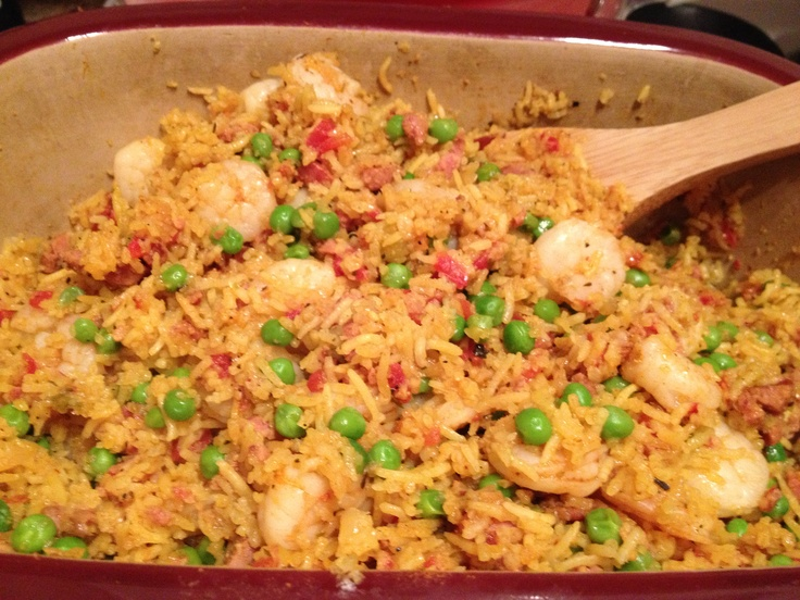 Speedy Shrimp & Sausage Paella from the #2449 The Pampered Chef® Dinner in Your Deep Covered Baker Cookbook