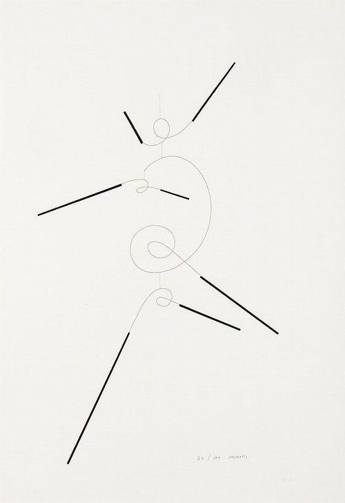 Bruno Munari, Macchina aerea, 1930.Serigraphy.