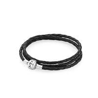 Triple Black Leather Bracelet
