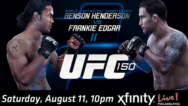 This Saturday 8/11 we'll be showing UFC 150 on the 32-foot Sony big screen here at XFINITY Live! Philadelphia starting at 10pm!