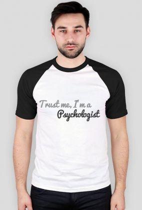 Trust me, I'm a psychologist - czarne rękawki, męska, 49,00 zł, #psychologia, #psychology, #psychopraca, #cupsell, #gifts, #prezenty, #trustme