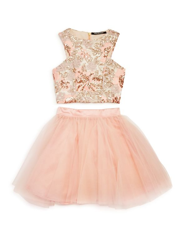 Miss Behave Girls' Sequined Top & Tutu Skirt Set - Sizes 8-16