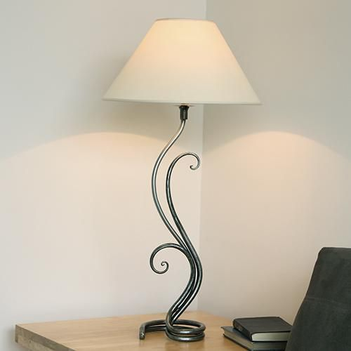 fern wrought iron table lamp by belltrees forge