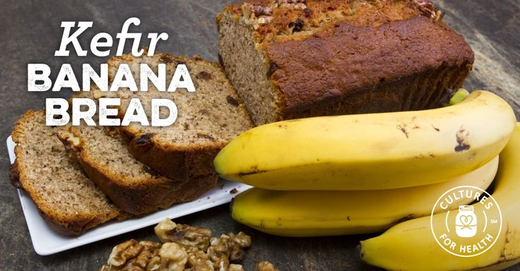 We love banana bread, especially during the holidays and when it's made with Kefir!