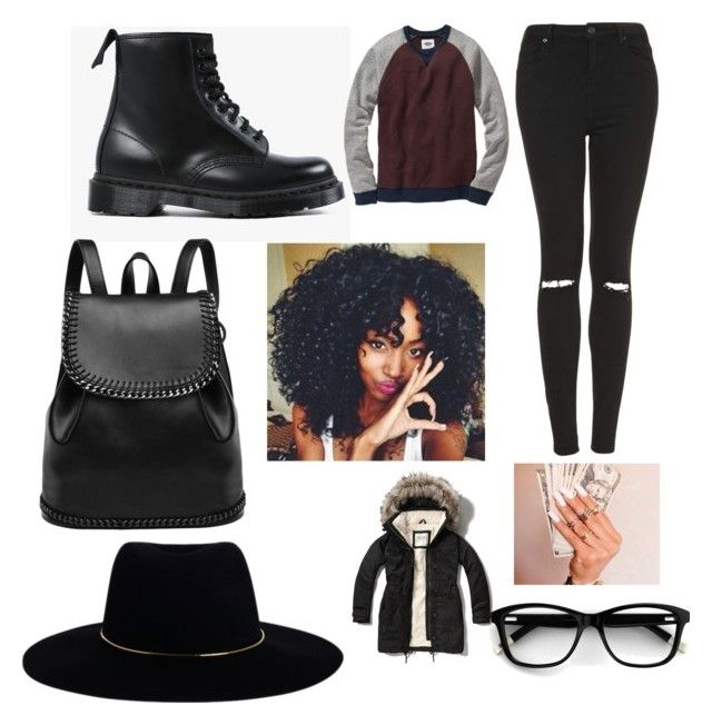 """""""Bros football game tomorrow"""" by royaljasmyne ❤ liked on Polyvore featuring Abercrombie & Fitch, Topshop, Dr. Martens, Old Navy and Zimmermann"""