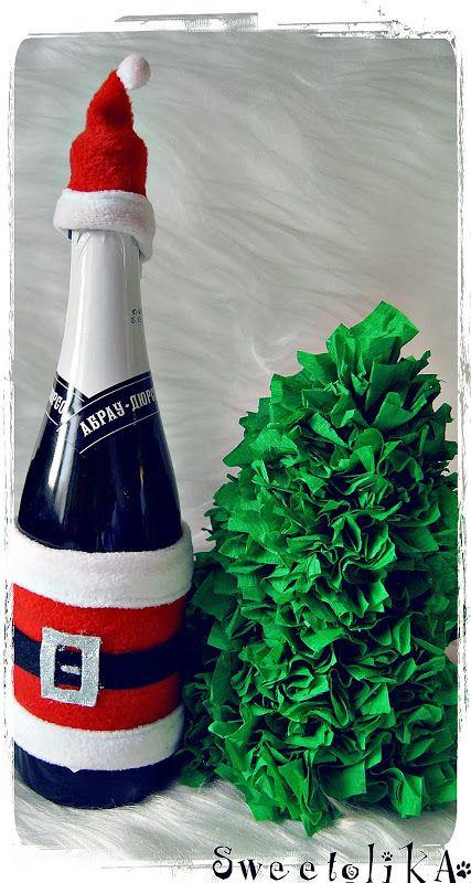 Christmas decoration bottle