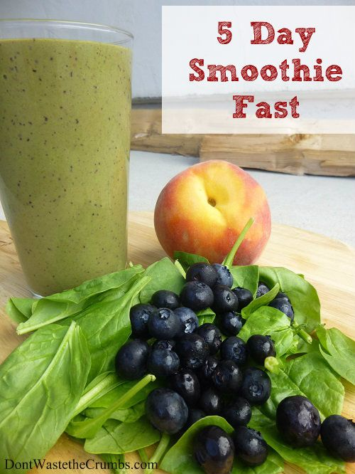 5 Day Smoothie Fast | Delicious recipes to help you jump start a healthy diet, and possibly lose a few pounds in the process!!  :: DontWastetheCrumbs.com