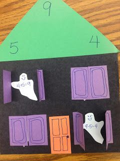 And that's my freebie for you today....the template for making your own Fact Family Haunted Houses! You can do this activity with either add...: