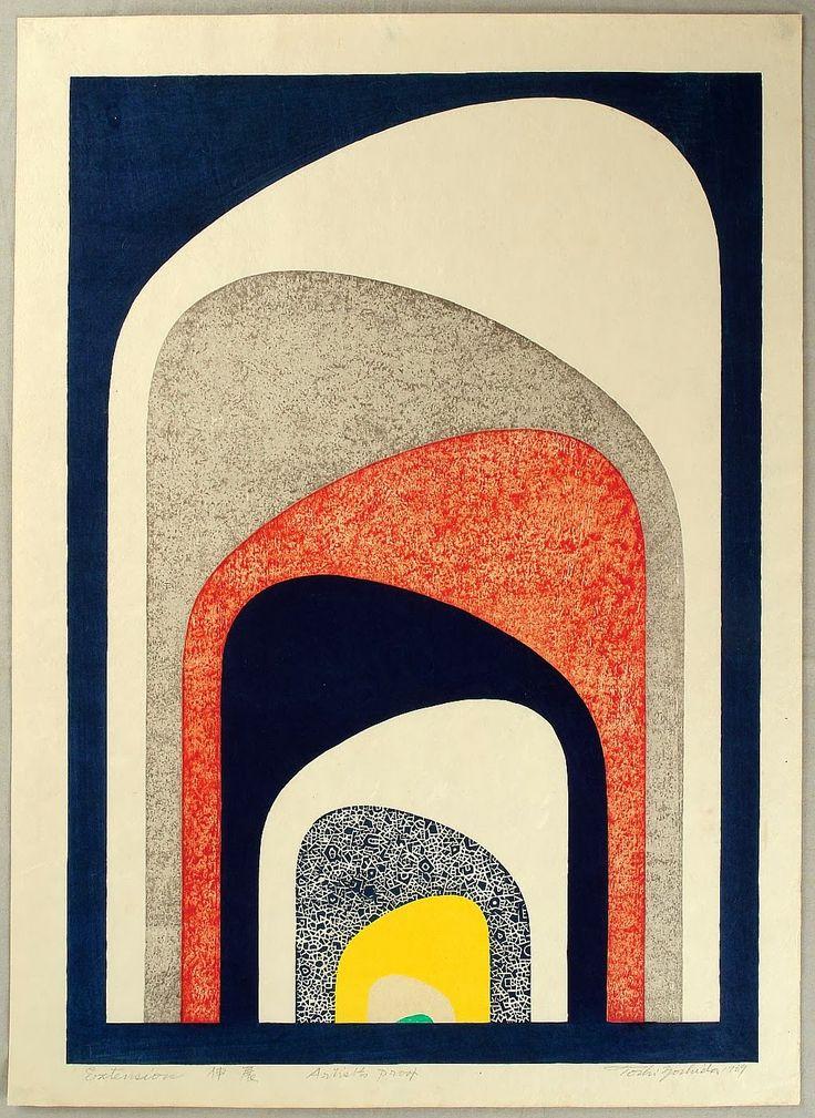 houndeye:  Tōshi Yoshida – 1911-1995 Extension - 1969 woodblock print