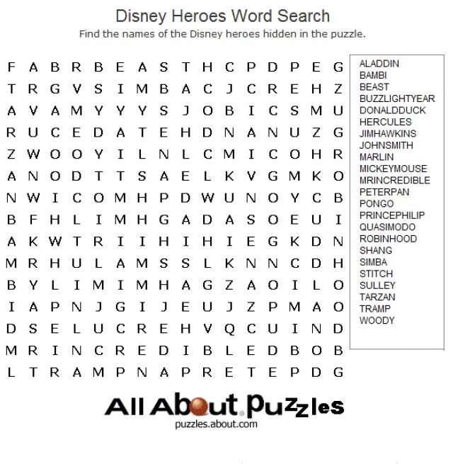 10 Images About Word Searches On Pinterest Disney