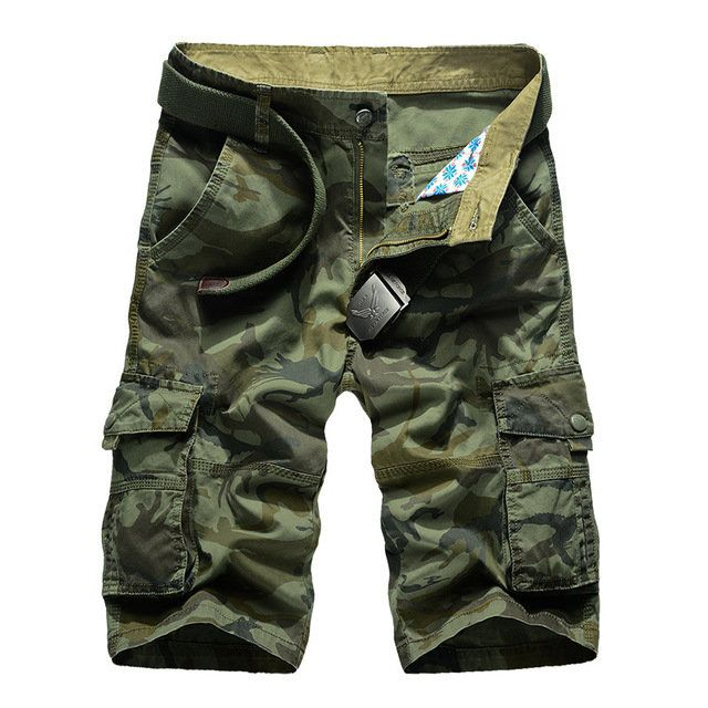 Specially Designed For Men's Overalls, Multi-pockets, European And American Style Camouflage Beach Pants, Five Points Sh