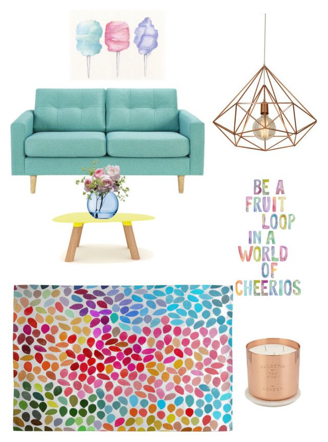 Dreams of colour by sapphirereport on Polyvore featuring polyvore, interior, interiors, interior design, home, home decor, interior decorating, Universo Positivo, DENY Designs, Cotton Candy, Tom Dixon and LSA International