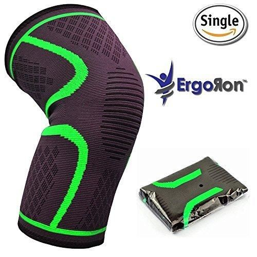 Knee Compression Sleeve Effective Support for Walking Running Workout Jogging and Hiking - Improve your Circulation for Relief of Arthritis