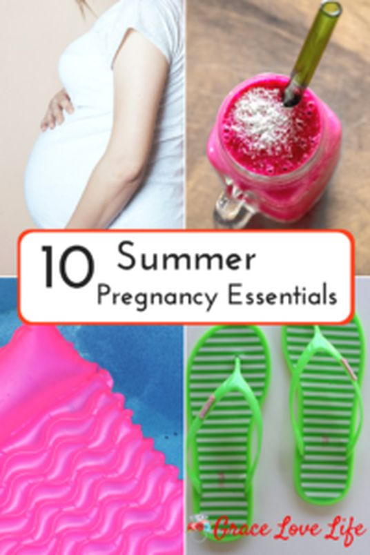 My Top 10 Summer Pregnancy Essentials | Grace Love Life. Survive the summer heat with these 10 products.
