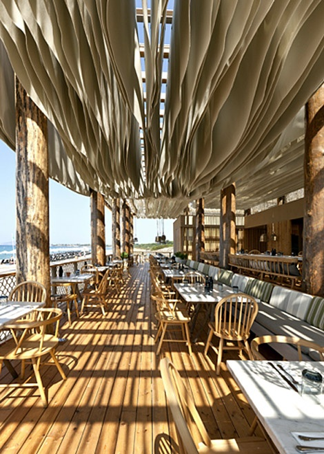 White beach bar design - Bedroom beach