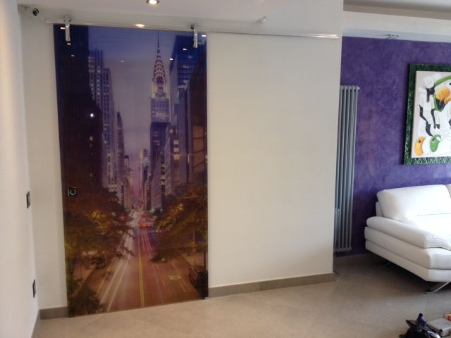 Digital printed glass-door from Promateria