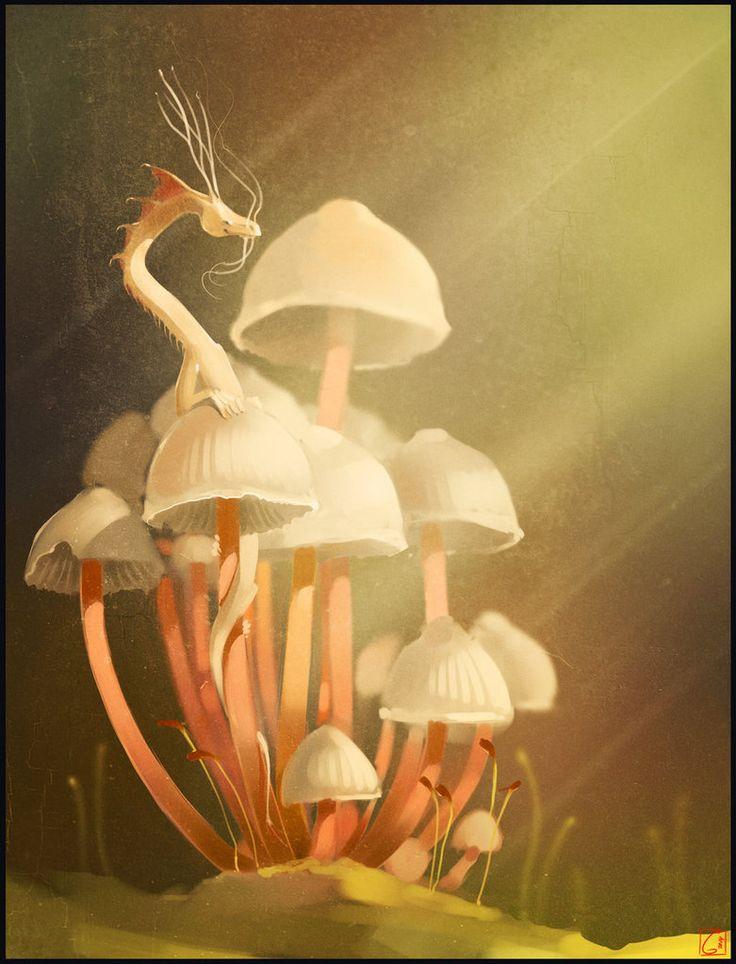 Mushroom's dragon by GaudiBuendia