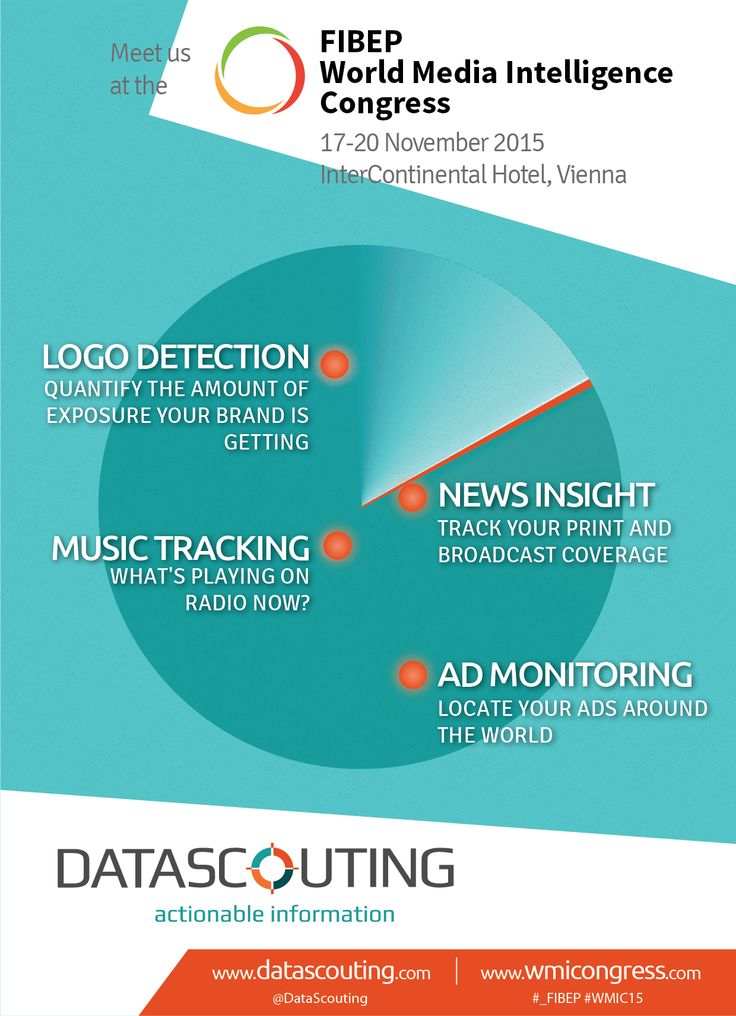 DataScouting is excited to be #_FIBEP #WMIC15 Congress Partner and an exhibitor, showcasing our latest features of MediaScouting Broadcast: logo detection, ad monitoring and music tracking. Connect with us at the Super Networking Session on Tuesday, 17 November, visit our exhibition booth or just talk to Stavros, Tom or Sophia. See you in Vienna.