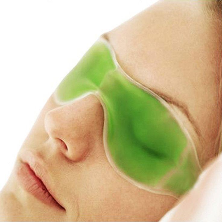 צבעים אקראיים יופי חיוני הקיץ פופולרי אופנה נשים משקפי קרח ג 'ל להסיר עיגולים כהים להקל על עייפות עיניים מסכות שינה