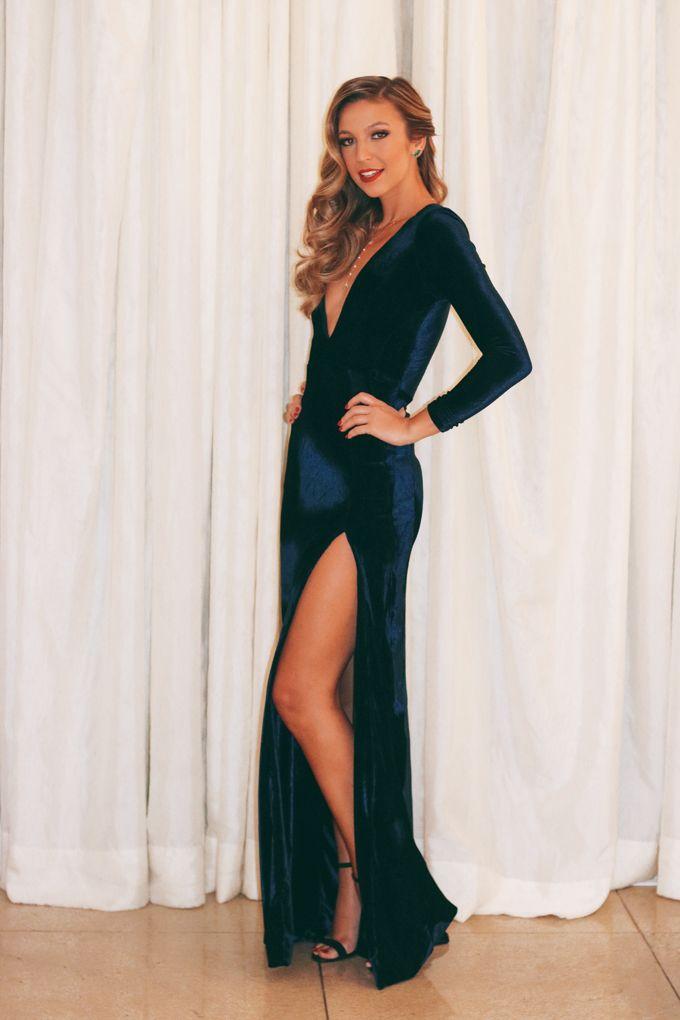 vestido longo, manga longa, veludo