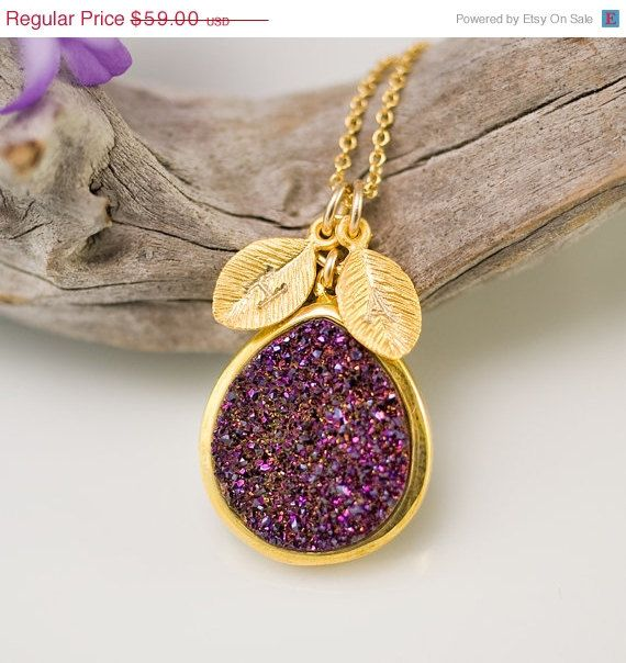 SALE  October Birthstone Jewelry Pink Purple Titanium by delezhen, $53.10