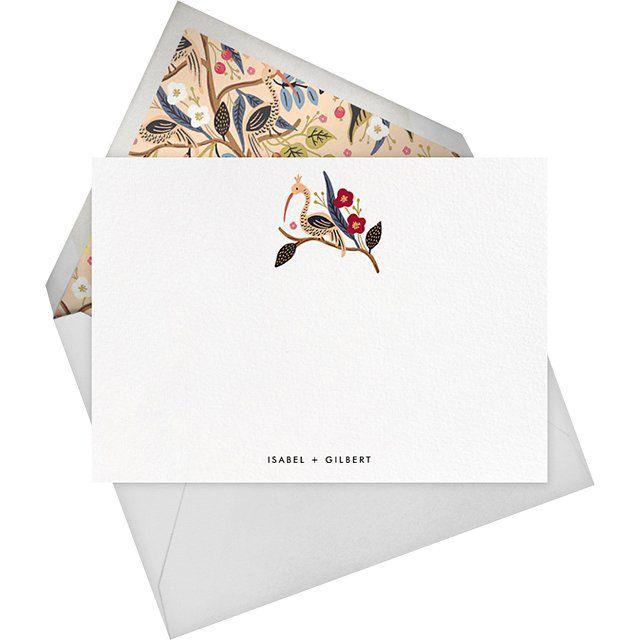 Egret Garden stationery