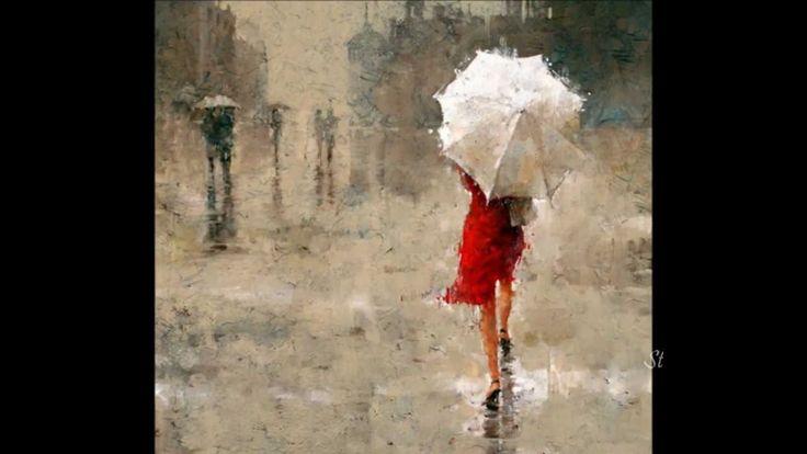 Omar Akram - Falling Through The Rain  and Andre Kohn - paintings