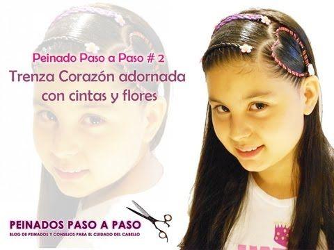 Peinado paso a paso # 2 - Trenza Corazón adornada con cintas y flores