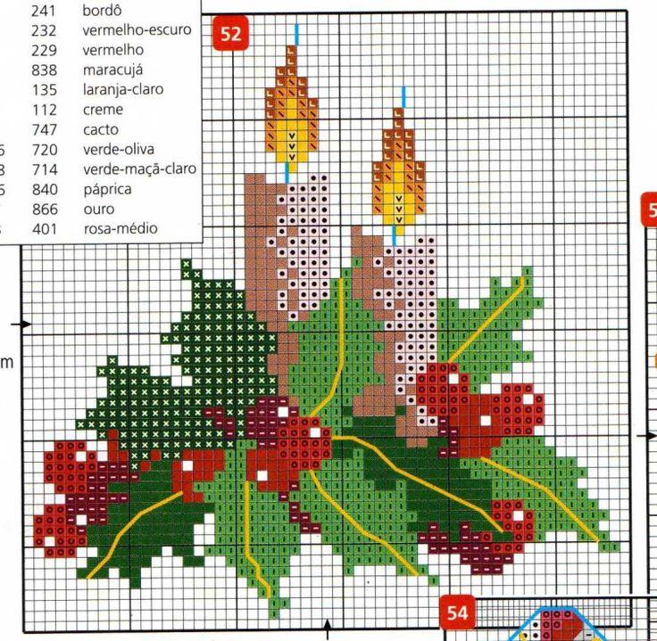 point de croix Noël *m@* Cross stitch natal