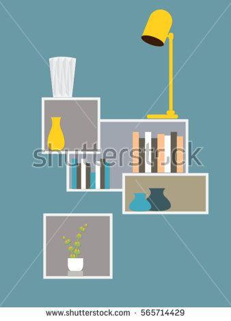 Room interior design  - Vector illustration