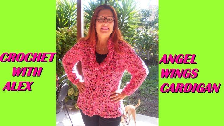 Crochet cardigan tutorial any size angel wings stitch