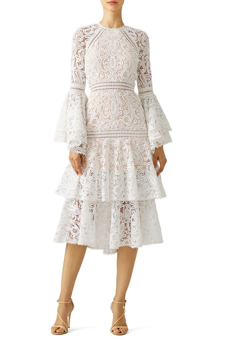 White Lace Luxe Dress by Alexis for $140 | Rent the Runway