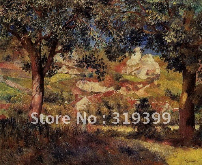 ==> [Free Shipping] Buy Best Oil Painting Reproduction on linen canvaslanscape in la roche guyon by pierre auguste renoirFree DHL Shippinghandmade Online with LOWEST Price   577184289