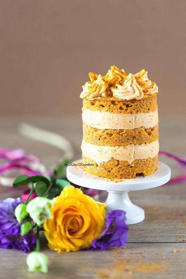 Творожный тортик с курагой детский вариант без сахара. Elina's 2nd YB Cake