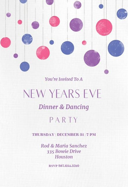71 best New Yearu0027s Eve Invitations Template images on Pinterest - free dinner invitation templates printable