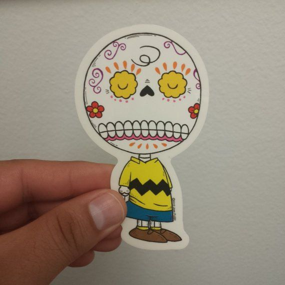 Peanuts - Charlie Brown Day of the Dead Sticker