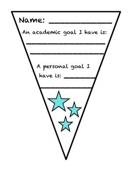 Goal Setting Pennant (front and back)