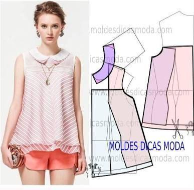 Imagini pentru moldes de blusas femininas
