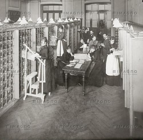Registratur in einer Postsparkasse | Post | Historische Bilder (IMAGNO) | Bilder im Austria-Forum