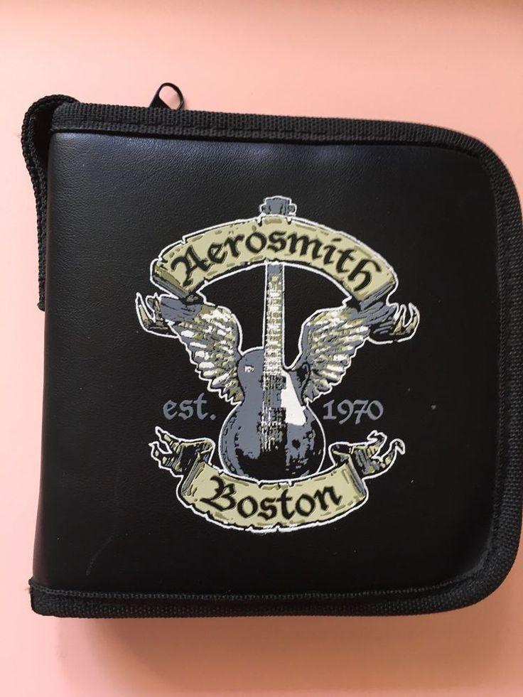 NEW Aerosmith CD wallet /disc holder Bad Boys of Boston Est. 1970 with strap