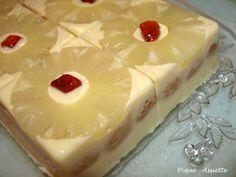 Gâteau à l'ananas sans cuisson (tupperware)