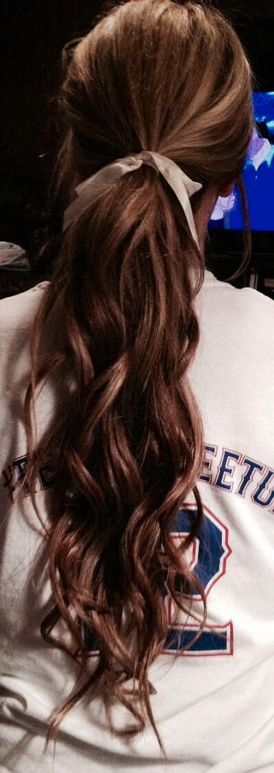 curls & ribbons #ponytail